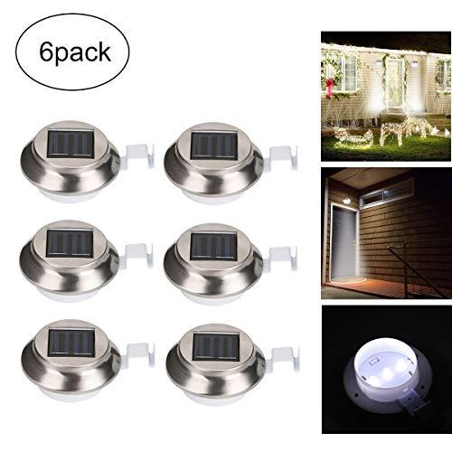 olarlicht, Solar Security Lights, 3 LED-Induktions-Solarrinnenlicht Für Den Menschlichen Körper, Wasserdichtes Gartenzaunlicht Im Freien (6Er-Pack) ()