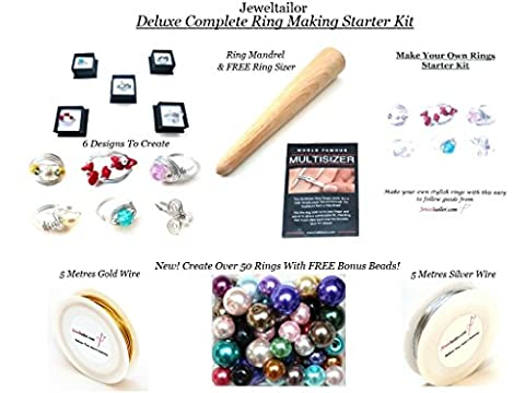 Jeweltailor NEW! Complete Ring Making Starter Kit Now Makes Over 20 Stylish Rings In Gold Or Silver + FREE Ring Sizer (Whilst Stocks