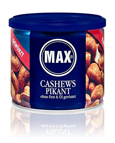 MAX CASHEWS PIKANT - ohne Fett und Öl geröstet (8er Karton)