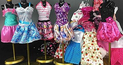 Fashion modische Partymoden Urlaubstag Kleidung Kleider Outfit für Barbie Puppen Doll/Zufällige anderen Stil Rock (5pcs)
