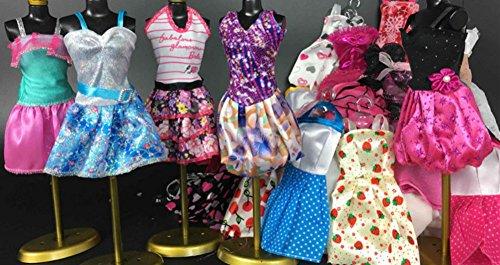 Fashion modische Partymoden Urlaubstag Kleidung Kleider Outfit für Barbie Puppen Doll/Zufällige anderen Stil Rock (10pcs) (Rock Rockstar-braut Die)