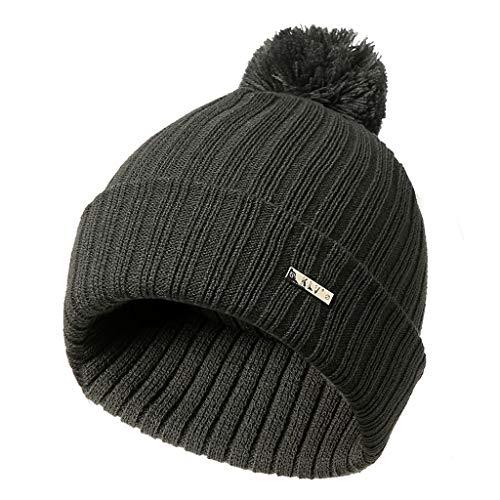 49c5e53edc8b5 JOYKK Sombreros de Punto Unisex Big Fur Pompom Ball Beanie de Invierno  Skullies Ski Cap Soft