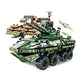 YxFlower 1154 pièces Blocs de Construction Kit, DIY Blocks Figurine Véhicule Militaire pour Bricks Jeu de Construction Compatible avec Lego Swat Police Team - Voiture Blindée