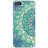 JIAXIUFEN Custodia Cover Case Ultra Slim Hard Plastica Custodia Protettiva Case Cover per Apple iPhone 6 6S (normale 4.7 pollici Schermo)-Green Art Stripes