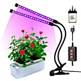 Led grow lights for indoor plants,RINBO 18W Plant grow lights, 36LEDs Artificial Dual Head plant lamp, 3 Modes Timer(3H/6H/12H), Dimmable 5 Levels, 24 Red and 12 Blue ELDs, 360 Degree Adjustable Flexible Gooseneck,�for office/house/Gardening/Hydroponic/Aquatic growing plants,vegetable,Flower,Seedling