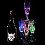 Copa de Champán de Vinos de LED XinXu Champagne Flutes Coloridas Copas de Champán / Vasos de Vino 6 colores con Líquido Activado para el Banquete Boda Bar