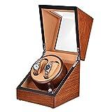 JQUEEN Doppelter Automatischer Uhrenbeweger für 2 Uhren Speicher Vitrine