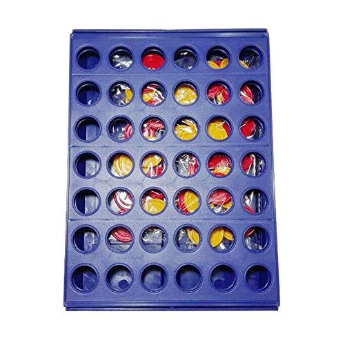 Intelligent Spiel ToysThree-dimensionale Vier-Spiel Vier Schach-Lernspielzeug blau 17812 neues intelligentes Spiel spielt um das dreidimensionale Vier-Spiel Vier Schach Fünf Kinder-Brettspiel Educatio Neue Womens 4