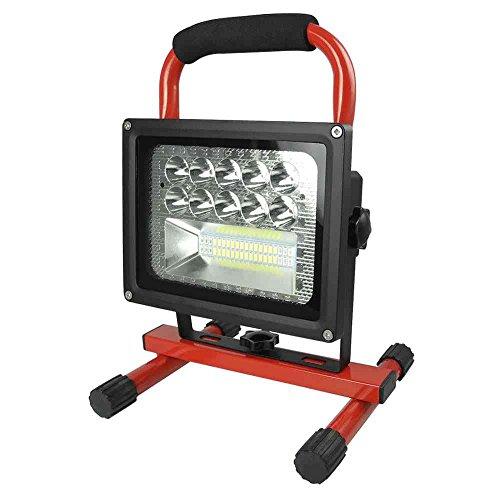 Granvoo 20W Rechargeable Lumière d'Inondation à LED avec Batterie Intégrée et Mode SOS Aluminium Pour Voyage en plein air, Camping, pêche, randonnée, éclairage de secours, lutte contre l'incendie, éclairage de sous-sol, la maison utiliser, etc