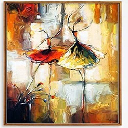 RTCKF Pittura ad Olio Astratta dell'acquerello Ragazza Danzante personalità Decorazione della casa Tela Pittura Nucleo Dipinto Senza Cornice A 70 cm x 100 cm