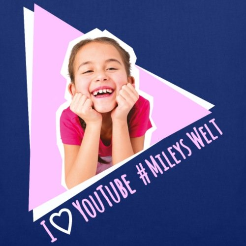 Spreadshirt Mileys World Miley Lacht #MileysWelt Stoffbeutel Royalblau