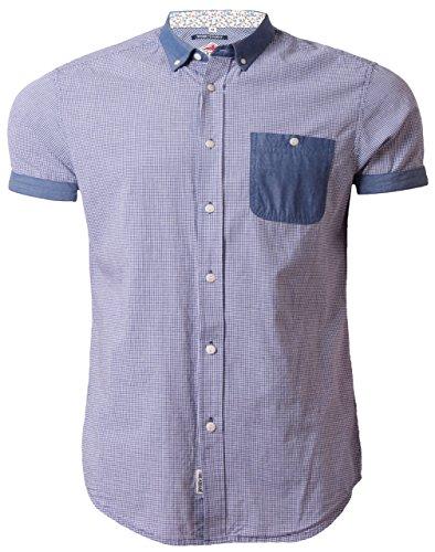 Threadbare -  Camicia Casual  - Maniche corte - Uomo blu navy