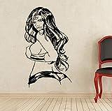 Sticker mural Mur de bricolage décoration de la maison Wonder Woman Sticker Super-Héros Vinyl Comics Art salon stickers muraux 50x80 cm