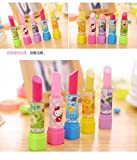 #7: Pack of(6) Eraser Lipstick Style | Best for Girls Gift | Return Gift (Set of 6 Lipstick Eraser) for Birthday Return Gift for Kids | Included Characters are Three of The Girls Favorite Cartoons
