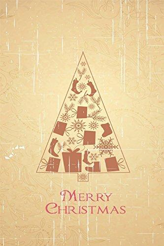 "nuohaoshangmao Merry Christmas Decorative Winter Christmas Garden Flag 12.5"" x 18"""