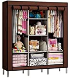 Anva 6+2 Layer Fancy and Portable Foldable Closet Wardrobe with Shelves (Multicolour) It N - 88130