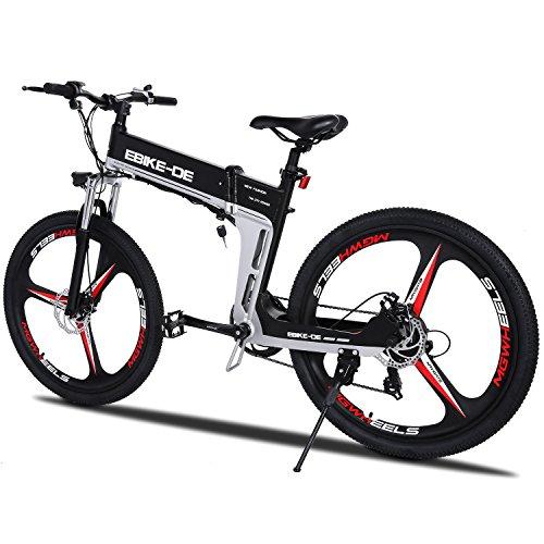 Acecoree Mountainbike 26 zoll, pedelec E Bike Dämpfung High Speed Elektro Mountainbike elektrisches Fahrrad bis 25-28 km (Schwarz 22)
