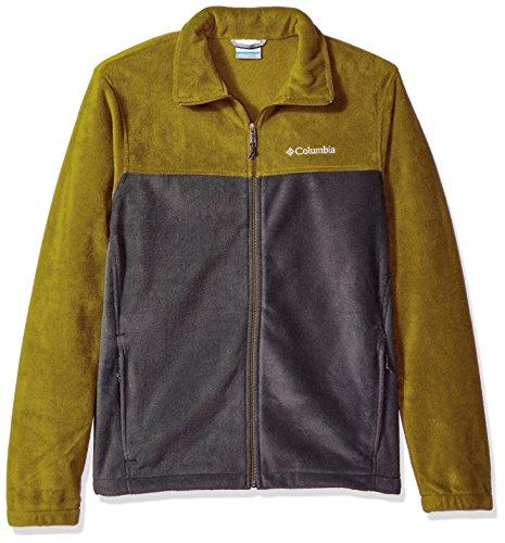 Columbia Men's Big and Tall Cascades Explorer Full Zip Fleece Jacket, Mossy Green/Shark, XX-Large