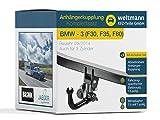 Weltmann 7D020037 BMW 3er (F30, F35, F80) - Abnehmbare Anhängerkupplung inkl. fahrzeugspezifischem 13-poligen Elektrosatz