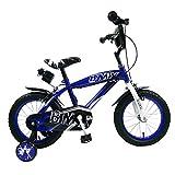 "Bicicletta per Bambino 14"" BMX 2 Freni Star Kids Blu"