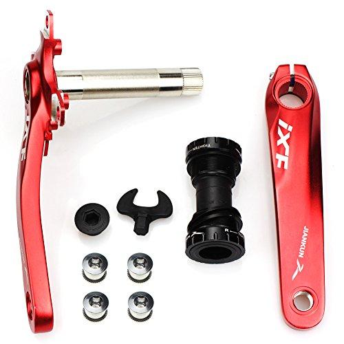 CYSKY Fahrrad Kurbelarm Set Mountain Bike Kurbelarm Set 170 mm 104 BCD mit Tretlager Kit und Kettenblattschrauben für MTB BMX Rennrad, kompatibel mit Shimano, FSA, Gaint (Rot)