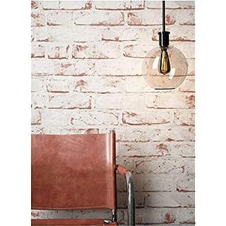 Steintapete Vlies Weiß Rot Edel, 3D Optik Für Wohnzimmer, Schlafzimmer,  Flur Oder Küche