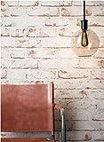 Steintapete Vlies Weiß Rot Edel,  3D Optik für Wohnzimmer, Schlafzimmer, Flur oder Küche, inklusive der Newroom-Tapezier-Profi-Broschüre