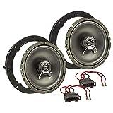tomzz Audio ® 4057-006 Lautsprecher Einbau-Set für VW Golf Polo T5 Passat Up Amarok Jetta Tiguan Touran Lupo EOS 165mm