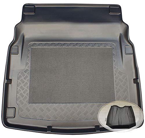 ZentimeX Z3008294 Antirutsch Kofferraumwanne fahrzeugspezifisch + Klett-Organizer (Laderaumwanne, Kofferraummatte)