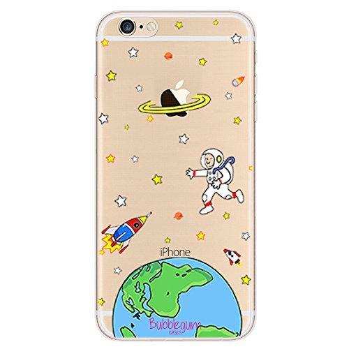 Bubblegum® für iPhone Modelle Raumschiffe Fall Collection-TPU Schutzhülle Soft Gel Artistic Schutzhülle (iPhone 44S, 7: Spaceman Big), 4: Earth Rocket, iPhone 7 Plus/iPhone 8 Plus -