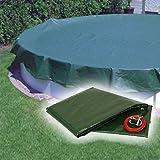 Pool Abdeckplane / Winterabdeckplane mit 180g/m² für Oval und Achtform Becken 625 x 360 cm