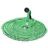 200FT Gartenschlauch Wasserrohr erweiterbar 7 Modi Spritzpistole Elastizität teleskopisch (Grün)