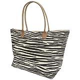 Damen Tasche/Shopper / Strandtasche, gewebt, mit Tiermuster (One Size) (Zebra)