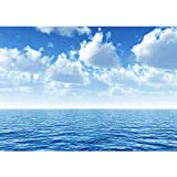 Vlies Fototapete 350x245 cm PREMIUM PLUS Wand Foto Tapete Wand Bild Vliestapete - Ozean Meer Wasser See Welle Sturm Blau Türkis - no. 0152