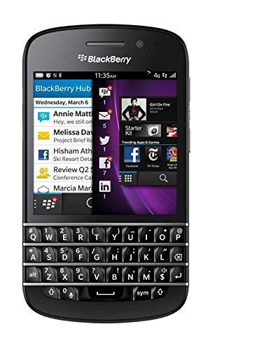 Blackberry Q10 3 G, (sqn1oo-1), QWERTY, sartphone AT & T sbloccato, schermo da 3,1, Fotocamera 8 MP, 16 GB, 2 GB di RAM), -Nero (Importazione)