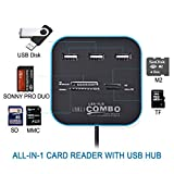 #6: RK's COMBO All In One Card Reader & 3 Port USB 2.0 Hub (Black)