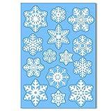 Articlings 42 Original Snowflake Window Clings | Fabulous Static PVC Stickers