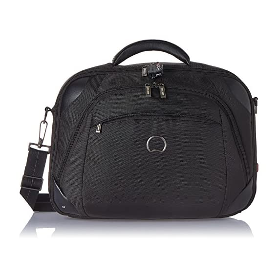 Delsey Quarterback Nylon Freesize Black Backpack