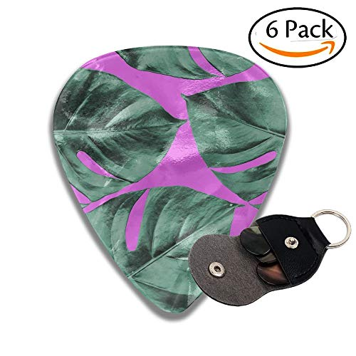 Wxf Colorized Monstera Leaves In Different Color Background Abstract Background Ideal For Wallpaper Stylish Celluloid Guitar Picks Plectrums For Guitar Bass 6 Pack.96mm - Guitar Pack Bass