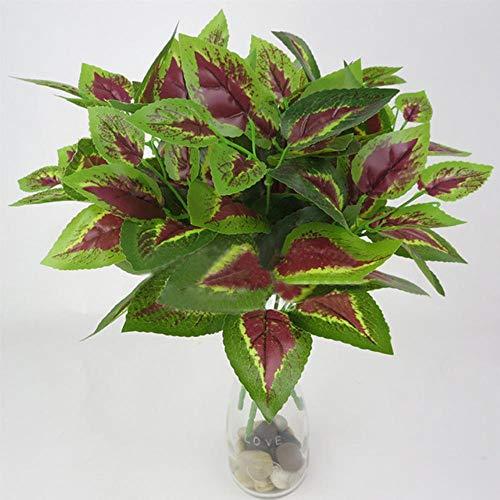 LYSPR 1 stücke künstliche Blumen mit Blatt grünem Gras Kunststoff Pflanzen gefälschte Blatt laub Bush für zu Hause hochzeitsdekoration Partei liefert, 7 -