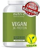 VEGANES EIWEIßPULVER Neutral ohne Süßungsmittel - 85,8% Eiweiß - 1kg - Nutri-Plus Shape & Shake Vegan - Natural Proteinpulver unflavored - natürlich auch zum Kochen und Backen