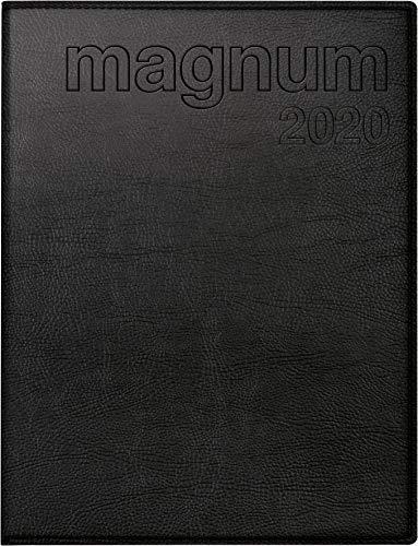 rido/idé 702706490 Buchkalender magnum (2 Seiten = 1 Woche, 183 x 240 mm, Kunstleder-Einband Prestige, Kalendarium 2020) schwarz