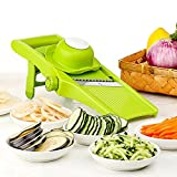 Mandoline Slicer - Adjustable Blade Fine to Thick Slice & Julienne Settings, Vegetable