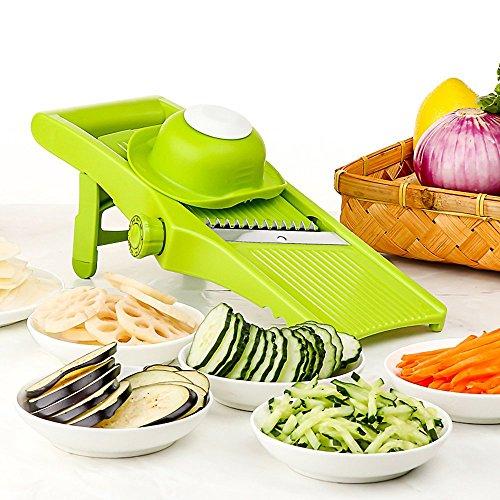 Lekoch mandoline slicer - regolabile per lama a fettine sottili e impostazioni julienne, taglia verdure, grattugia e affettatrice per verdure, patate, pomodoro, cipolla, formaggio