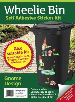 Wheelie-Bin-Stickers-Gnomes-FREE-POSTAGE