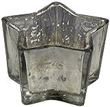 Decoline Teelicht-Gläser 3 Stück Stern Silber klein