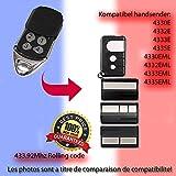 4330E, 4332E, 4333E, 4335E, Compatible télécommande émetteur pour Porte de Garage Automation, Qualité Supérieure keyfob