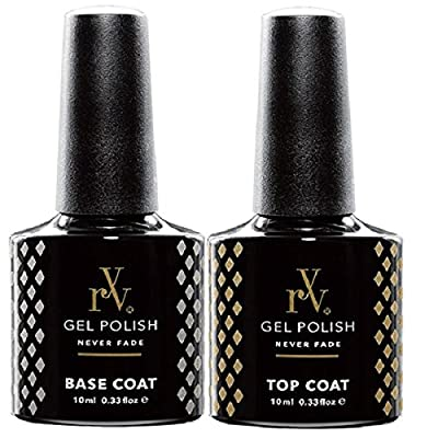 RYV Gel Top and Base Coat | 10ml | Dries under UV or LED Lamps | Works With Any Brand Colours | Matte Top Coat Also Available
