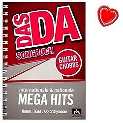 Das DA Songbuch von Sven Kessler - 176 internation176 internationale und nationale Mega-Hits - Noten, Texte, Akkordsymbole mit bunter herzförmiger Notenklammer