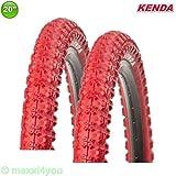 KENDA 01022009R 2 x K-51 Fahrrad BMX - Reifen Mantel Decke Rot 20 x 2.25-58-406